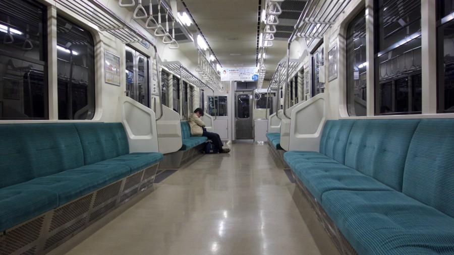 abends in der Bahn